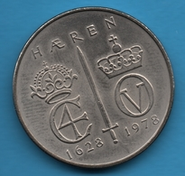 NORWAY 5 Kroner 1978  350th Anniversary Of Norwegian Army KM# 423 Olav V - Norvège