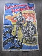 """Grande Affiche De Propagande Régime De Vichy 1941 """" Laissez Nous Tranquilles """"3 Scans - Affiches"""