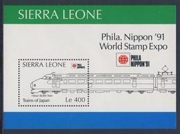 "Sierra Leone 1991 B157 = Mi 1613 ** ""Hikari"" Express Train / ""Hikari"" Bullet Train - Phila Nippon '91, Tokyo - Sierra Leone (1961-...)"