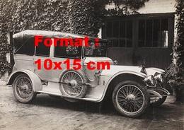 Reproduction D'une Photographie Ancienne D'une Automobile De Marque Landau Avec La Capote De Mise - Reproductions