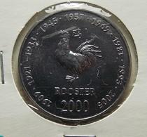 Somalia 10 Shillings 2000 Rooster Varnished - Somalie