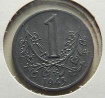 Boemia & Moravia 1 Koruna 1943 Varnished - Monnaies