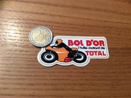 AUTOCOLLANT, Sticker «BOL D'OR - L'huile-motard De TOTAL» (moto, Huile, Oil) - Stickers