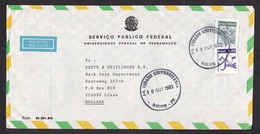 Brazil: Airmail Cover To Netherlands, 1983, 2 Stamps, Fruit, Agriculture, Food (minor Damage, See Scan) - Brazilië