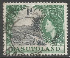Basutoland. 1954-58 QEII. 1d Used SG44 - Basutoland (1933-1966)