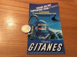 AUTOCOLLANT, Sticker «TEAM GITANES» (formule 1) 1985 - Stickers