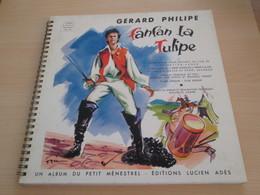 FANFAN LA TULIPE 25 CM 10 '' LP LIVRE DISQUE PETIT MENESTREL GERARD PHILIPPE - Enfants