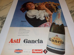 ANCIENNE PUBLICITE ASTI DE GANCIA 1960 - Alcohols