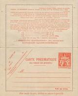 ANCIENNE CARTE PNEUMATIQUE 3 FRANCS TELEGRAPHE  (état Parfait Vierge - Entiers Postaux