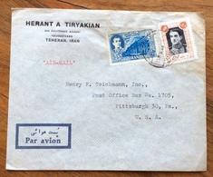 IRAN  ENVELOPE  COVER PAR AVION FROM TEHERAN TO PITTSBURGH  U.S.A.  1950 - Iran