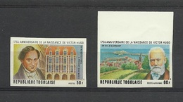 Togo 1977 Yvert 870 ** + PA 309 ** Paire Non Dentelée - Victor Hugo - Togo (1960-...)