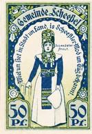 Billet Allemand - 50 Pfennig -  Scheessel 1921 - L'Église, Scheessler Braut - [11] Emissions Locales