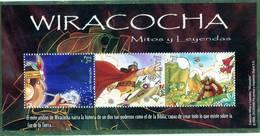 Lote P2008-12, Peru, 2008, HF, SS, Wiracocha, Mitos Y Leyendas, Myths And Indigenous Legends - Perú