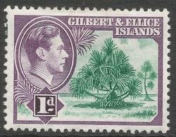 Gilbert And Ellis Islands. 1939-55 KGVI. 1d MH. SG 44 - Gilbert & Ellice Islands (...-1979)