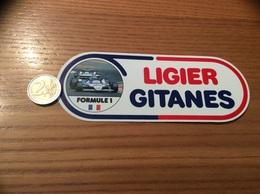 AUTOCOLLANT, Sticker «LIGIER GITANES» (formule 1) - Stickers