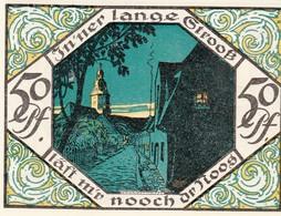 Billet Allemand - 50 Pfennig -  Scheibenberg 1921 - Bergmann Et Stadtmotiv, Pfarrkirche - [11] Emissions Locales