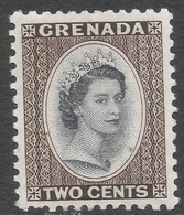 Grenada. 1953-59 QEII. 2c MH. Script CA W/M SG 194 - Grenada (...-1974)