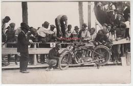 MOTO MOTORCYCLE RACE - GRAN PREMIO D'ITALIA 1927? BENZINA LAMPO - FOTOCARTOLINA ORIGINALE - Photos