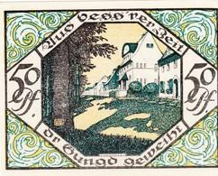Billet Allemand - 50 Pfennig -  Scheibenberg 1921 - Partie An Der Turnhalle, Bergmann Am Ortsrand - [11] Emissions Locales