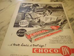 ANCIENNE PUBLICITE CHOCO BN 1960 - Affiches