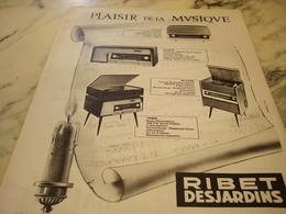 ANCIENNE AFFICHE  PUBLICITE PLAISIR DE LA MUSIQUE RIBET JARDINS 1960 - Advertising