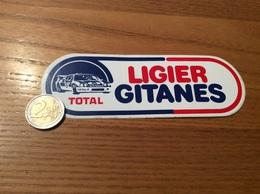 AUTOCOLLANT, Sticker «LIGIER GITANES» (TOTAL - RALLY AUTOMOBILE) - Stickers
