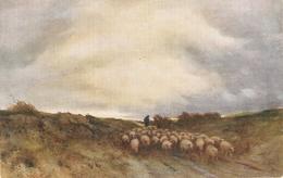 """""""Robert Hewit. Shepherd With Herd"""" Tuck Oikette Green Pastues Ser. PC # 3575 - Tuck, Raphael"""