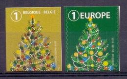 Belgie - 2018 - OBP -  ** Kerstzegel  B 1 + E 1 ** MNH - Boven Ongetand - Neufs