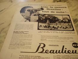 ANCIENNE  PUBLICITE TOUT DE SUITE LA  BEAULIEU   1960 - Affiches