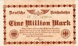 Billet Allemand - Deutsche Reichsbahn - 1 Million - Berlin 1923 - 1 Million Mark