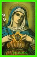 IMAGES RELIGIEUSES - LA VIERGE AVEC SON COEUR TRANSPERCER D'UN POIGNARD - DIMENSION 13 X 20 Cm - - Images Religieuses