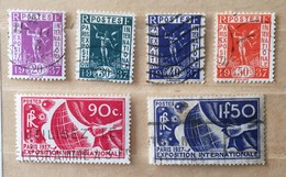 Timbre France YT 322 à 327 (°) Exposition Internationale De Paris 1937 (côte 17 Euros) – 101 - Frankrijk