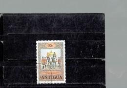 ANTIGUA 1978- CORONATION ELISABETH II STATE COACH ANNIVERSARY -  USED STAMP OF50 C  SCOTT NR. 510 PERFECTBK BL COM - Antigua And Barbuda (1981-...)