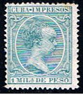 CUBA 241 // YVERT 26 .. ALFONSO XIII IMPRESO // 1896 - Timbres-taxe