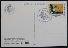 CARTE - ASSEMBLEE PHILAPOSTEL TREGEUNC - Francia