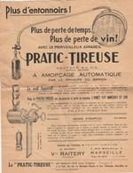 Lettre Publicité Vve RAITERY Le PRATIC TIREUSE Pour Tirer Le Vin MARSEILLE Bouches Du Rhône - Oenologie - France