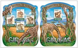 Mozambique 2015 Fauna Giraffes Klb + S/s MNH - Giraffen