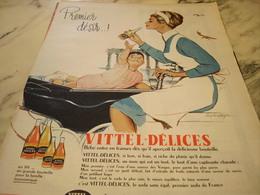 ANCIENNE PUBLICITE PREMIER DESIR AVEC VITTEL DELICE 1960 - Affiches