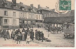 St Georges Du Vièvre-Place De La Halle Aux Grains.Ecrite Par A.Leroyer. - France
