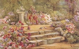 """""""lL. Spencer. Beautiful Garden"""" Tuck Oilette All In A Garden Fair  Ser. PC # 3574 - Tuck, Raphael"""