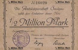 Billet Allemand - 1/2 Million Mark - Saulgau1923 - [11] Emissions Locales