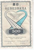 3793   OBVEZNICA  500  DINARA - Yougoslavie