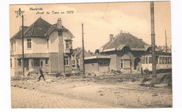 B-7044   WESTENDE : Arret Du Tram En 1923 - Westende
