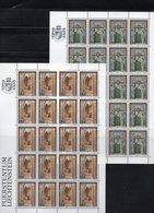 """LIECHTENSTEIN AÑO 1987 SERIE IVERT 866/868,  PLIEGOS """" PALACIOS DE LIECHTENSTEIN """"   MNH. - Liechtenstein"""