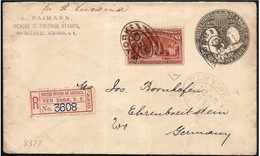 "Stati Uniti/États-Unis/United States: 1 $ ""Colombiana"" Su Registered, Recommandé, Certificato, Certificat, Certificate - 1847-99 Emissioni Generali"