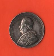 Pio IX Medaglia Papa 1871 Josephus E Mariae Sponsus Giuseppe E Maria Sposi  Pontifical State Medaille Medal - Gettoni E Medaglie