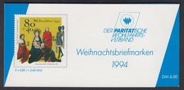 Bund Parität. Wohlfahrtsverband Markenheftchen 5x 1770 80+ 40 Pf 1994 Postfrisch - Markenheftchen