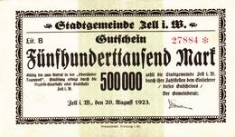 Billet Allemand - 500000 Mark - Zell 1923 - [11] Emissions Locales