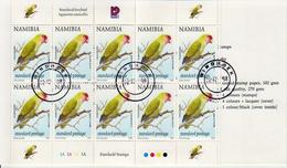 Namibia CTO Booklet - Parrots
