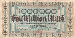 Billet Allemand - 1 Million Mark - Nurnberg 1923 - [11] Emissions Locales
